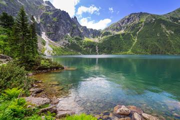 Obraz Eye of the Sea lake in Tatra mountains, Poland - fototapety do salonu