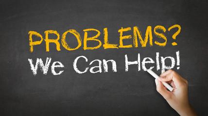 Problems we can help Chalk Illustration