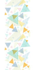 Vector abstract fabric triangles vertical seamless pattern