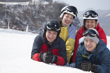 Group of Friends in Ski Resort