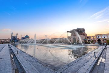 Naqsh-i Jahan Square in Isfahan, Iran at early-evening.