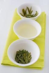 Testing of tea: loose tea, infusion and brewed leaves
