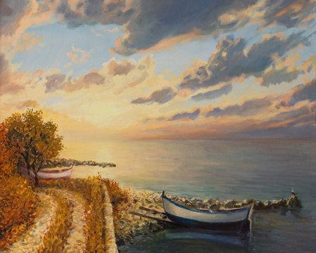 Romantic Sunrise by the Sea