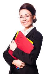 Geschäftsfrau mit Unterlagen