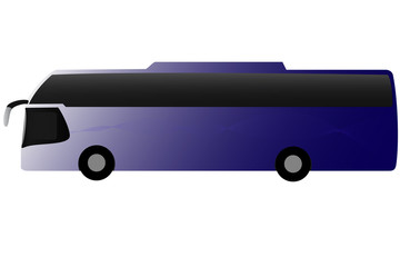 New blue coach side view