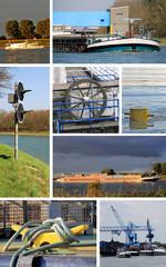 Fototapeta Collage Schiffe, Wasser