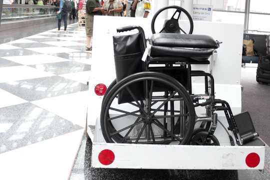 Airport Cart with a Wheelchair