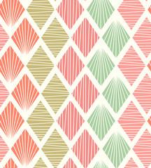 Seamless geometric pattern with rhombs