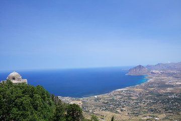 Panorama costa siciliana visto da Erice.