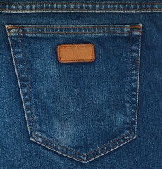 Blue Jeans Pocket Closeup