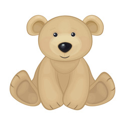 Vector of cute bear isolated.