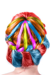 Modern color weddting hairstyle