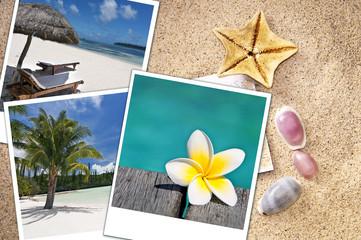 Photos de vacances sur le sable