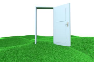 Tür im Grünen