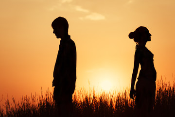Сouple at sunset