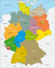 Wall Mural - Deutschland, Bundesländer