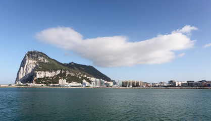 Rock of Gibraltar from La Linea, Spain