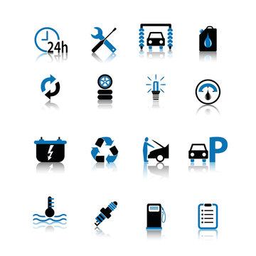 auto kfz icon set