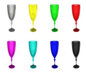 Set colour wineglass