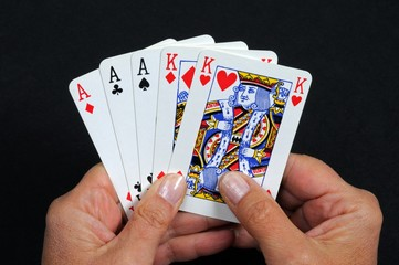 Full house poker hand © Arena Photo UK