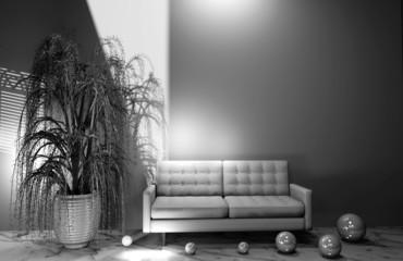 interno con pianta