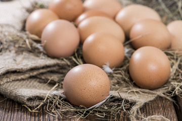 Brown Eggs (close-up)