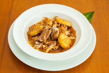 Dried Beef with coconut milk curry. ( Authentic thai food )