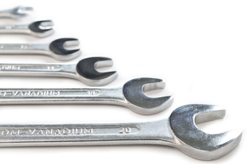 Close up of wrenches