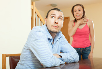 Woman having problems with her husband