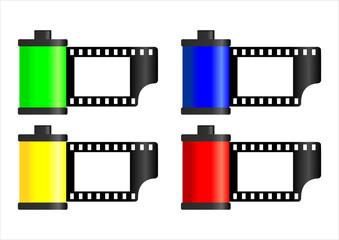 Pellicules film avec emplacement pour photo