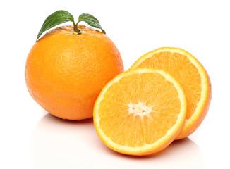 Healthy orange isolated over white background