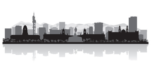Wall Mural - Pretoria city skyline vector silhouette