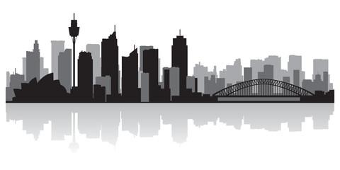 Wall Mural - Sydney Australia city skyline vector silhouette
