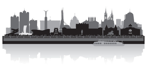 Samara city skyline vector silhouette