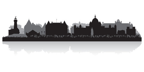 Wall Mural - Victoria Canada city skyline vector silhouette