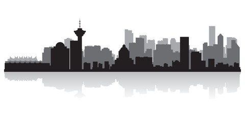 Wall Mural - Vancouver Canada city skyline vector silhouette
