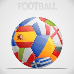 Ball with European flags