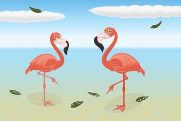 Stoic flamingos