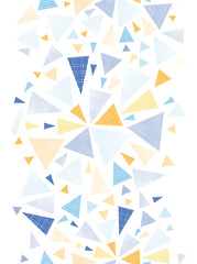 Vector colorful textured arrows triangles vertical seamless