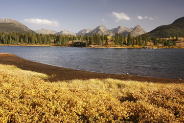 Fototapete - Molas lake and Needle mountains, Weminuche wilderness, Colorado