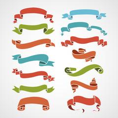 full color set of vintage ribbons