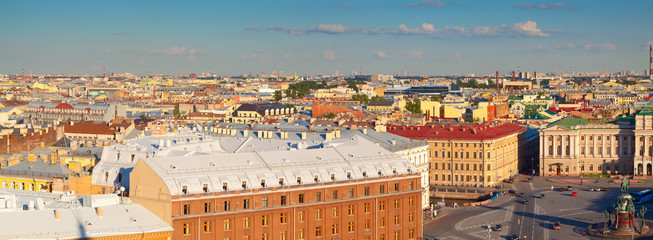 view of St. Petersburg from Saint Isaac's Cathedral
