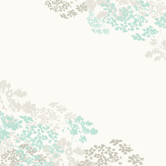 Light blue abstract floral background, vector
