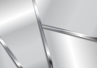 Grey metallic elegant design. Vector design eps 10