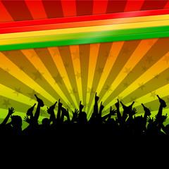 hintergrund regenbogenfarben reggae II