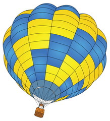 Hot Air Balloon Vector for Transportation Concept.