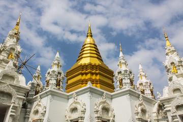 Chedi in Wat Sri Don Moon , Chiangmai Thailand