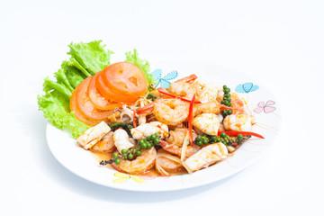 Phad Cha Talay (Spicy Seafood Stir Fry)