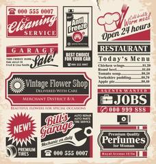 Retro newspaper ads design template