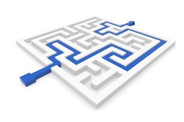 Konzept eines Labyrinths